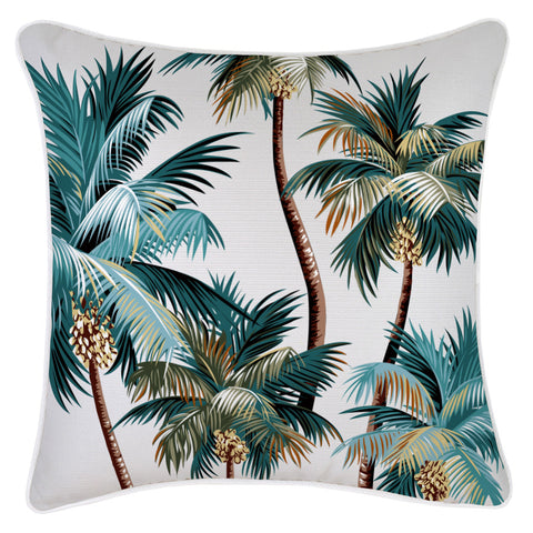 Cushion Cover-Coastal Fringe Natural-Solid Natural-45cm x 45cm