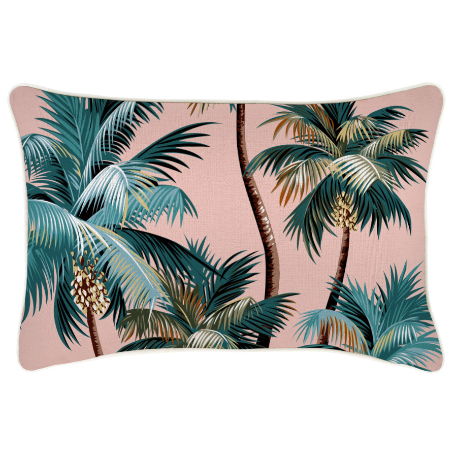 Cushion Cover-With Piping-Palm Trees Sunset-35cm x 50cm