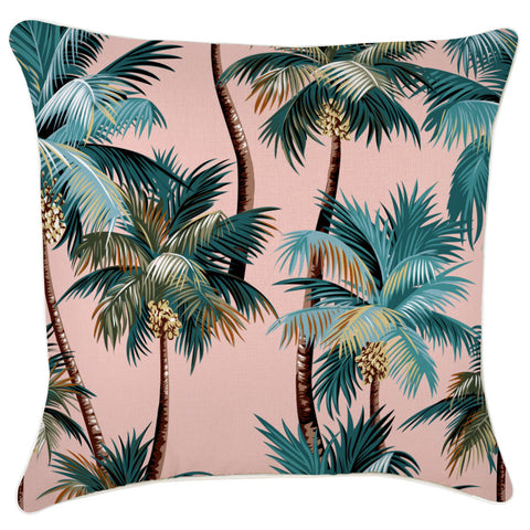 Cushion Cover-With Piping-Palm Trees Aqua-35cm x 50cm