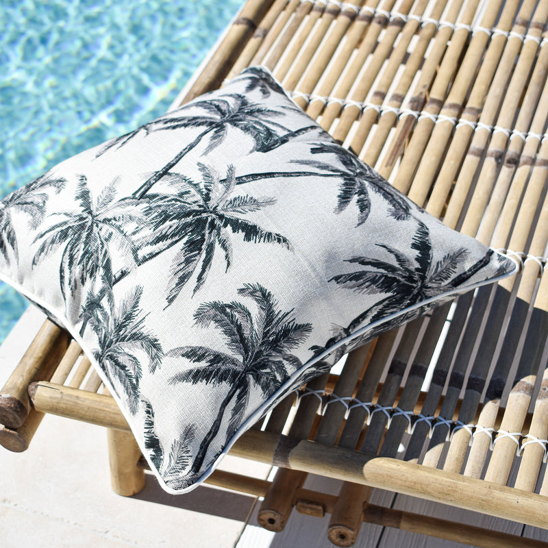 Cushion Cover-With Natural Piping-Castaway-45cm x 45cm