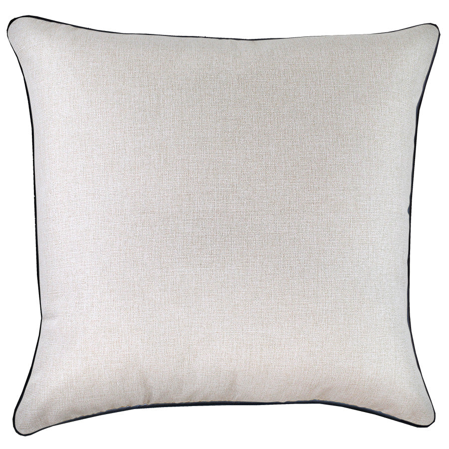 Cushion Cover-With Black Piping-Natural-60cm x 60cm