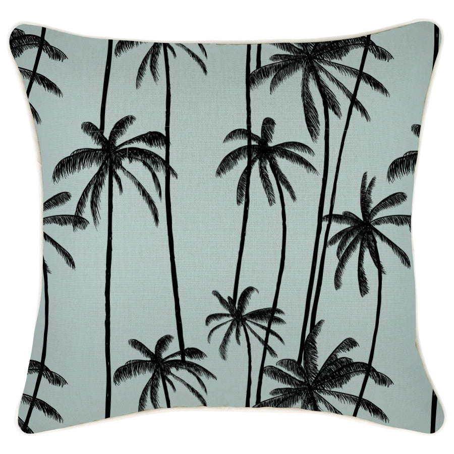 Cushion Cover-With Piping-Tall Palms Seafoam-45cm x 45cm