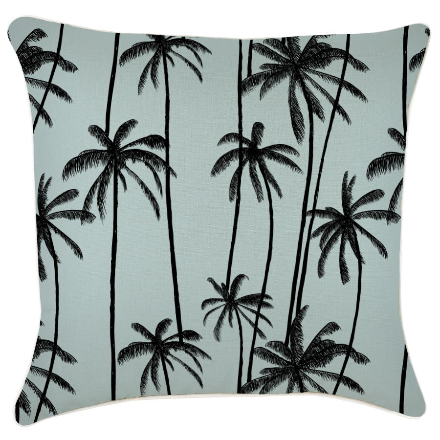 Cushion Cover-With Piping-Tall Palms Seafoam-60cm x 60cm