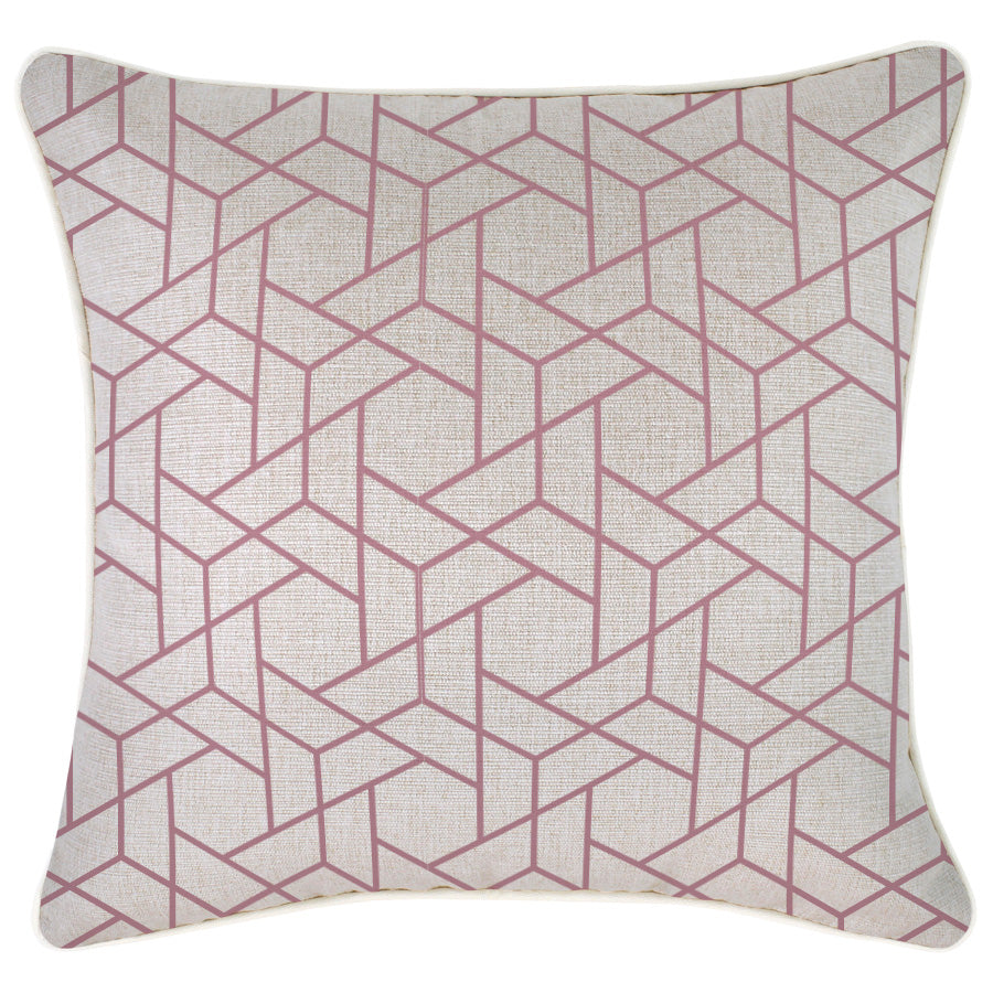 Cushion Cover-With Piping-Milan Rose-45cm x 45cm
