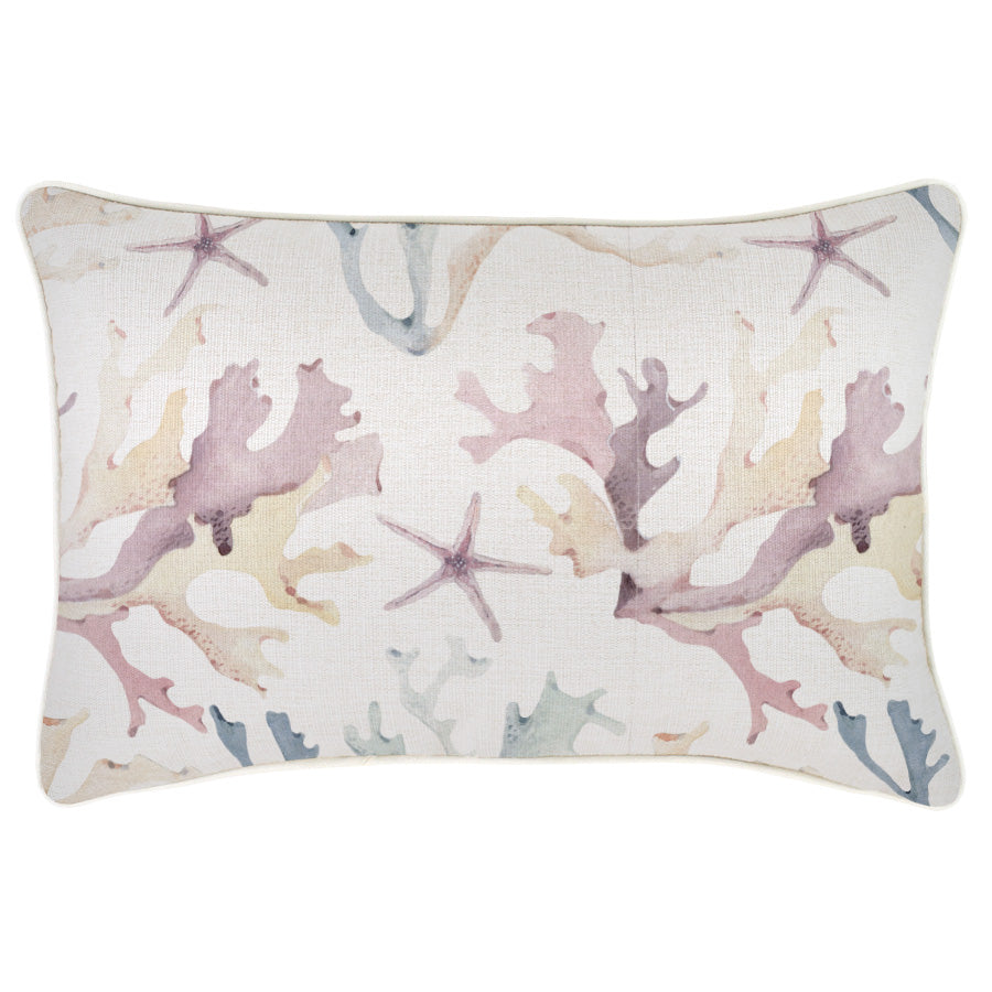 Cushion Cover-With Piping-Coral Coast-35cm x 50cm