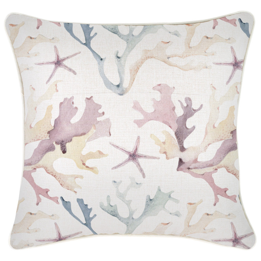 Indoor Outdoor Cushion Cover-With Piping-Coral Coast-45cm x 45cm