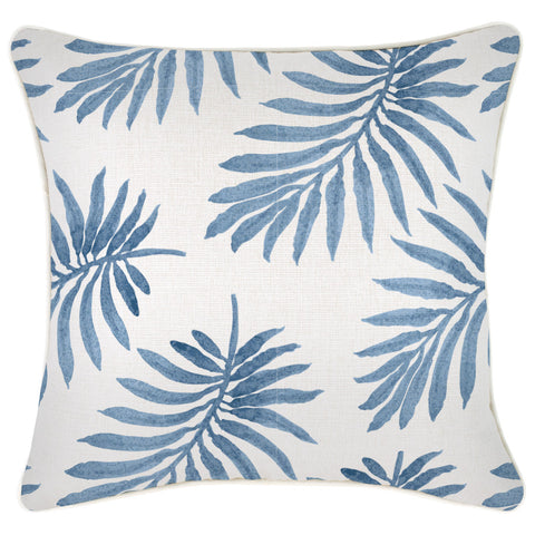 Indoor Outdoor Cushion Cover-Coastal Fringe-Milan Green-45cm x 45cm
