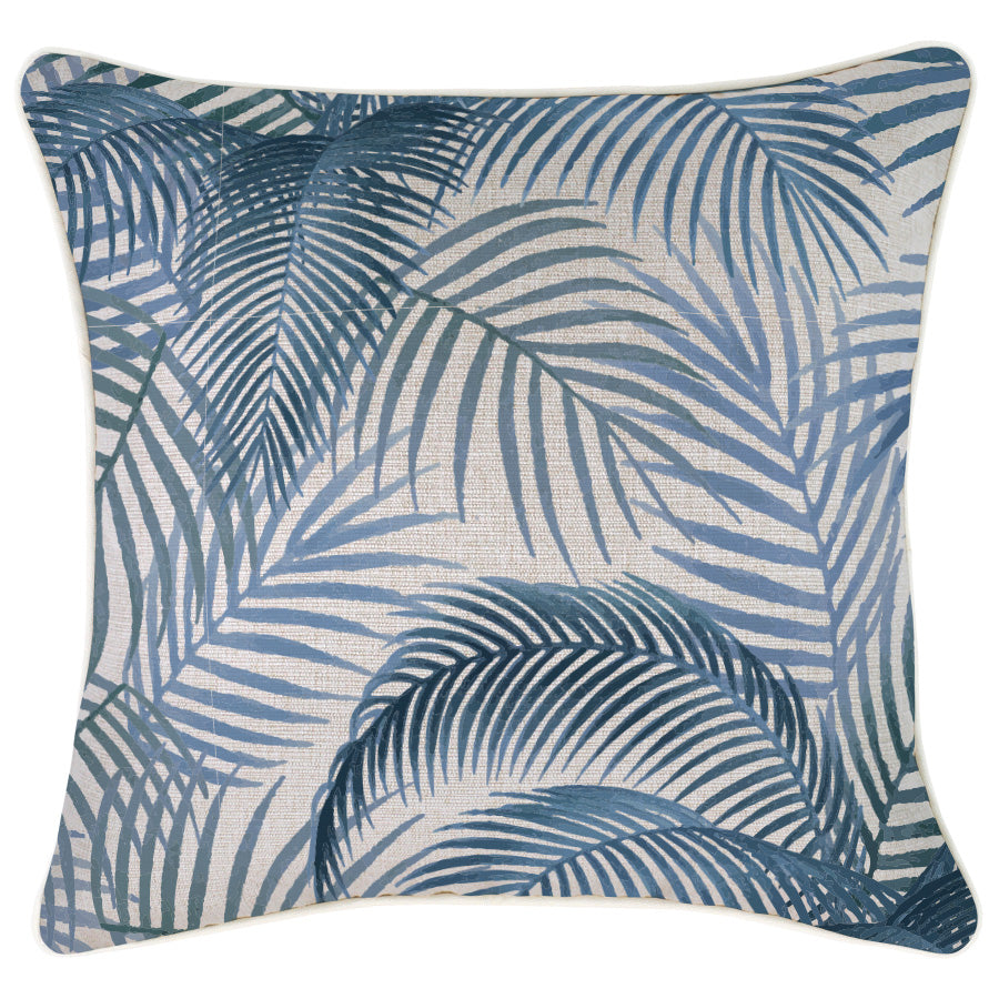 Indoor Outdoor Cushion Cover-With Piping-Seminyak Blue-45cm x 45cm