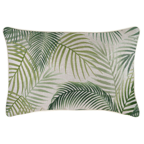 Cushion Cover-With Piping-Palm Trees Black-60cm x 60cm