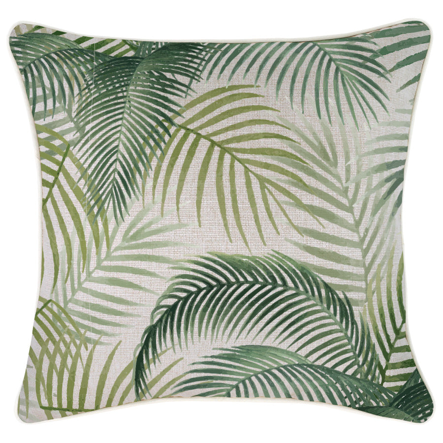 Indoor Outdoor Cushion Cover-With Piping-Seminyak Green-45cm x 45cm