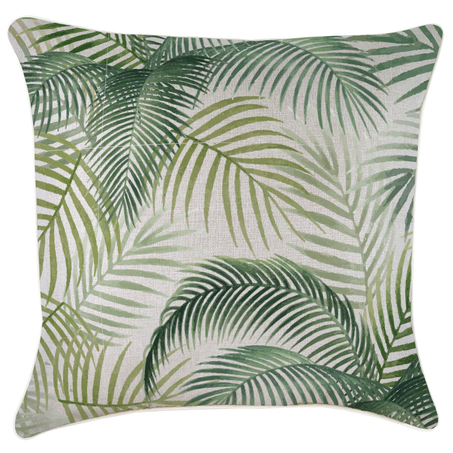 Indoor Outdoor Cushion Cover-With Piping-Seminyak Green-60cm x 60cm