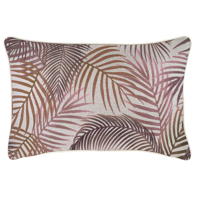 Indoor Outdoor Cushion Cover-With Piping-Seminyak Rose-35cm x 50cm