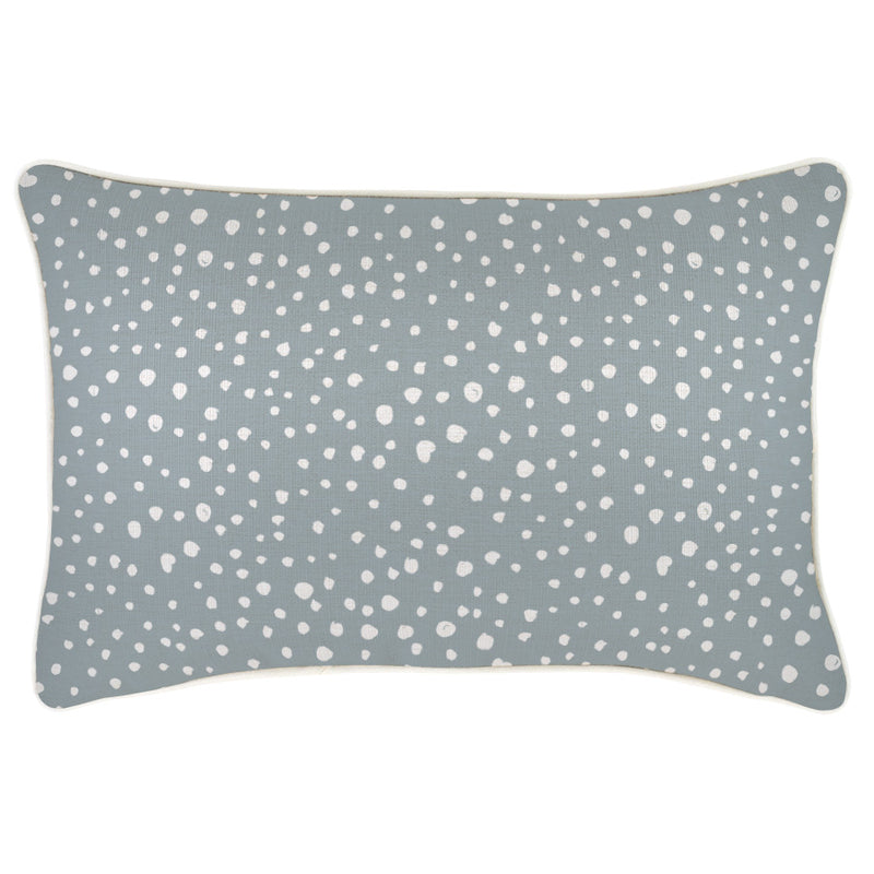Cushion Cover-With Piping-Lunar Smoke-35cm x 50cm