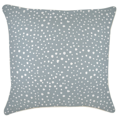 Cushion Cover-Coastal Fringe-Lunar Smoke-45cm x 45cm