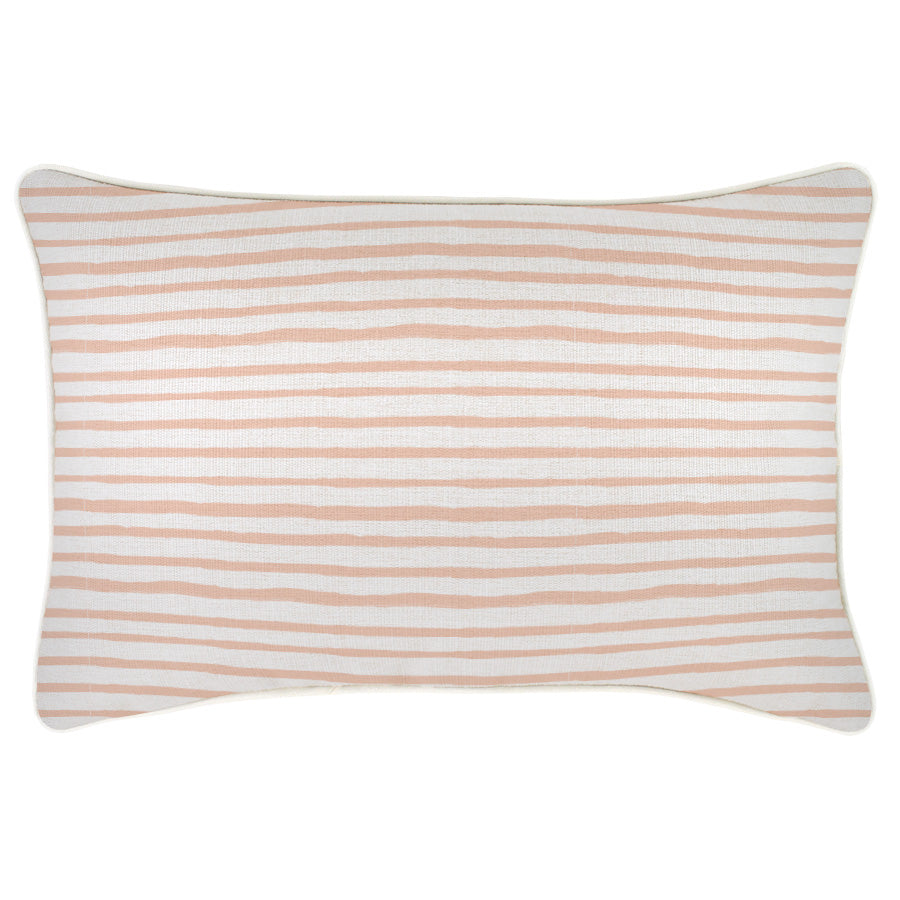 Cushion Cover-With Piping-Paint Stripes Blush-35cm x 50cm