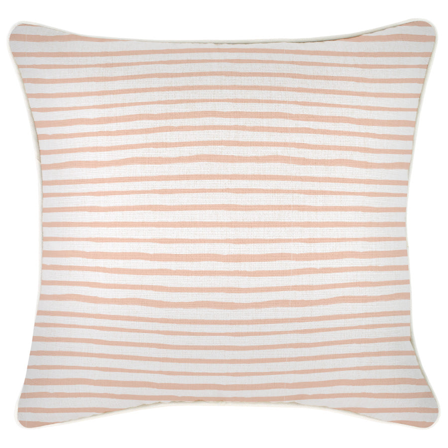 Cushion Cover-With Piping-Paint Stripes Blush-60cm x 60cm