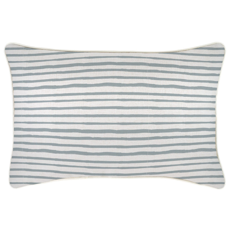 Cushion Cover-With Piping-Paint Stripes Smoke-35cm x 50cm