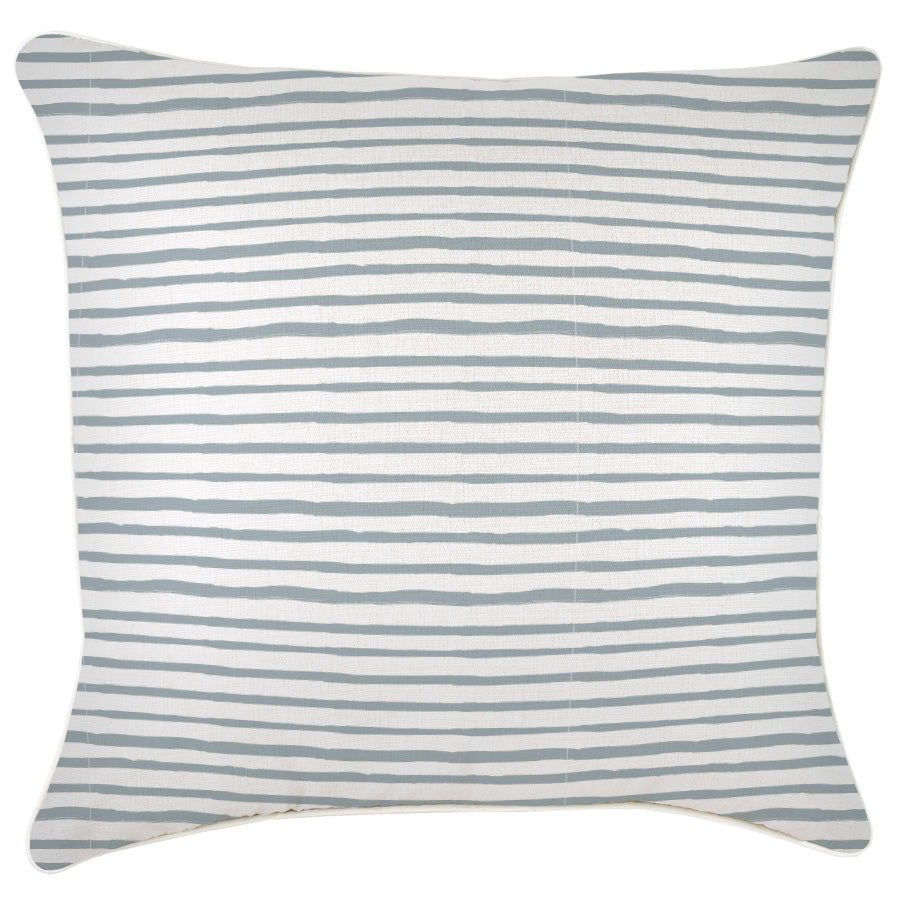 Cushion Cover-With Piping-Paint Stripes Smoke-45cm x 45cm