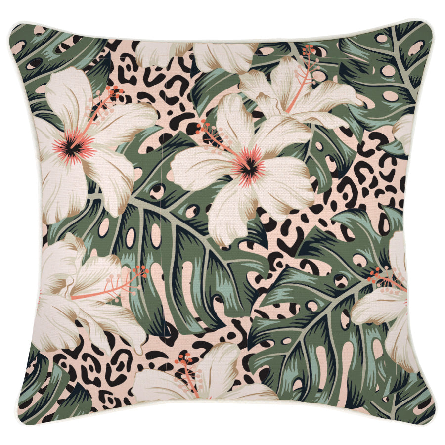 Cushion Cover-With Piping-Tropical Jungle-45cm x 45cm