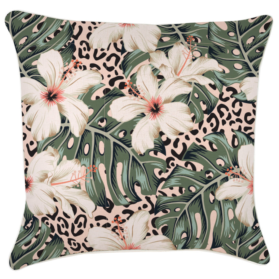 Cushion Cover-With Piping-Tropical Jungle-60cm x 60cm