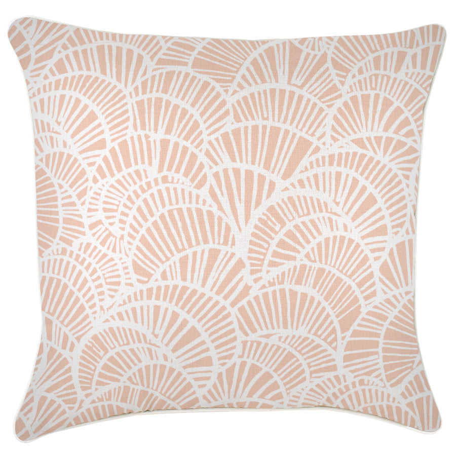 Cushion Cover-With Piping-Positano Blush-60cm x 60cm