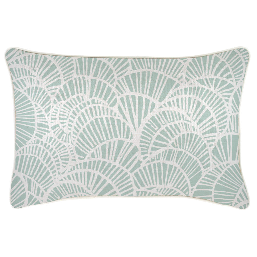 Cushion Cover-With Piping-Positano Pale Mint-35cm x 50cm