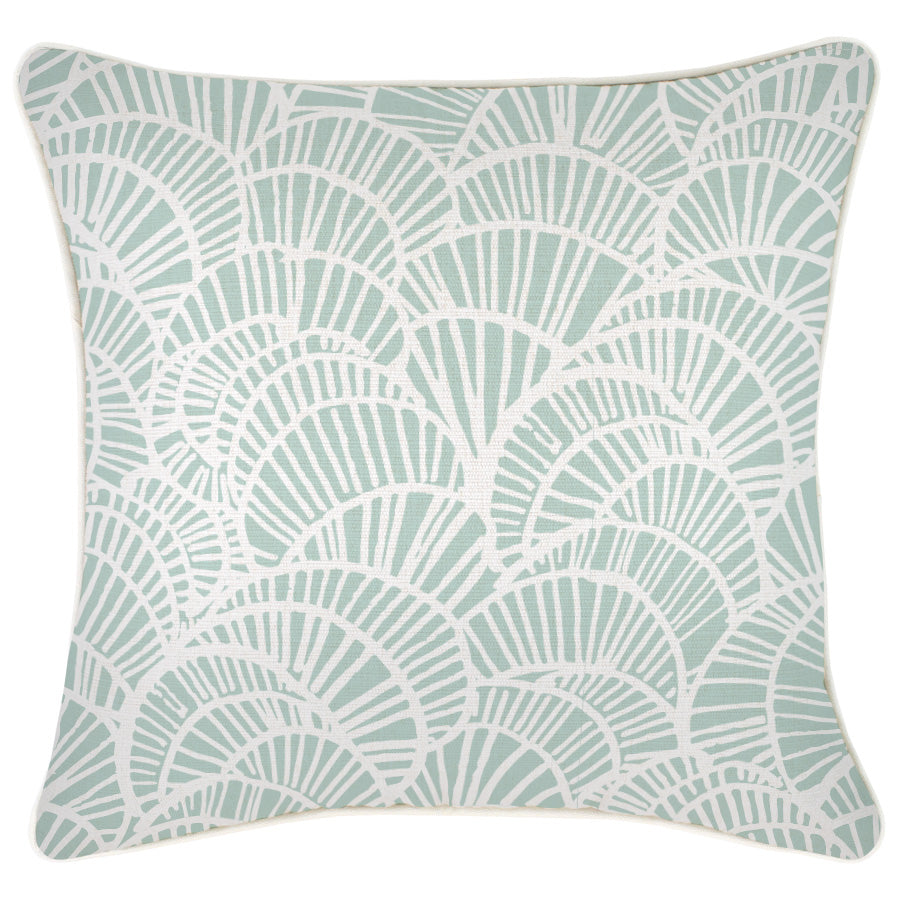 Cushion Cover-With Piping-Positano Pale Mint-45cm x 45cm