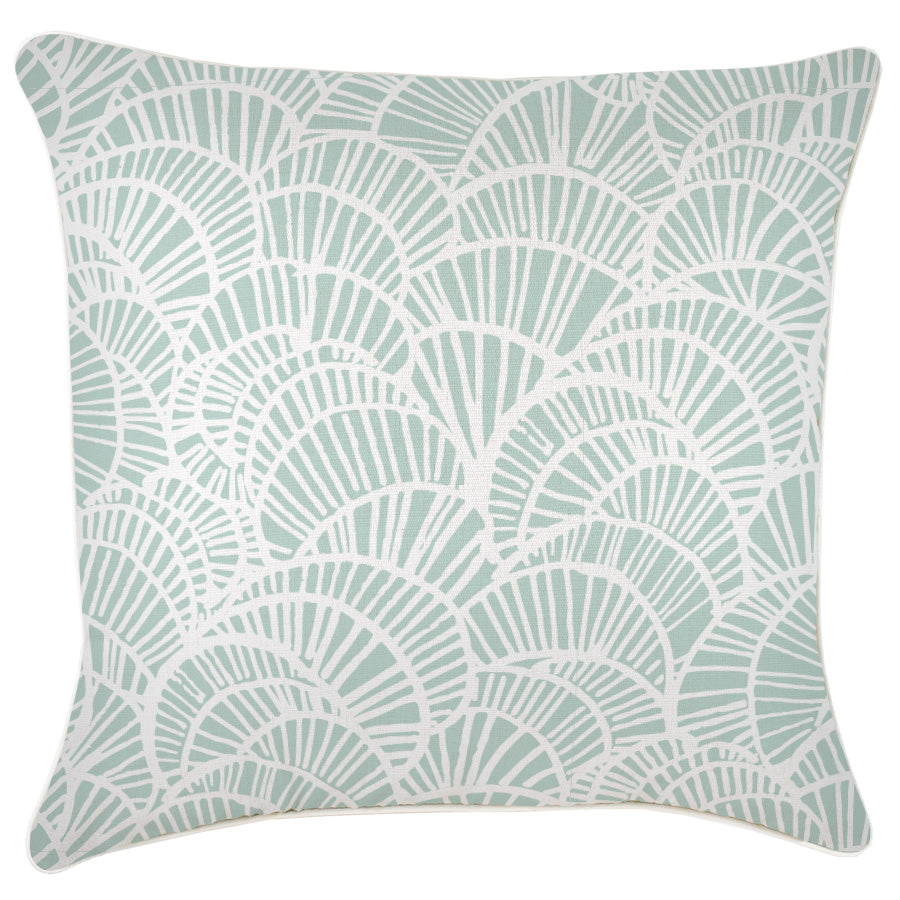 Cushion Cover-With Piping-Positano Pale Mint-60cm x 60cm