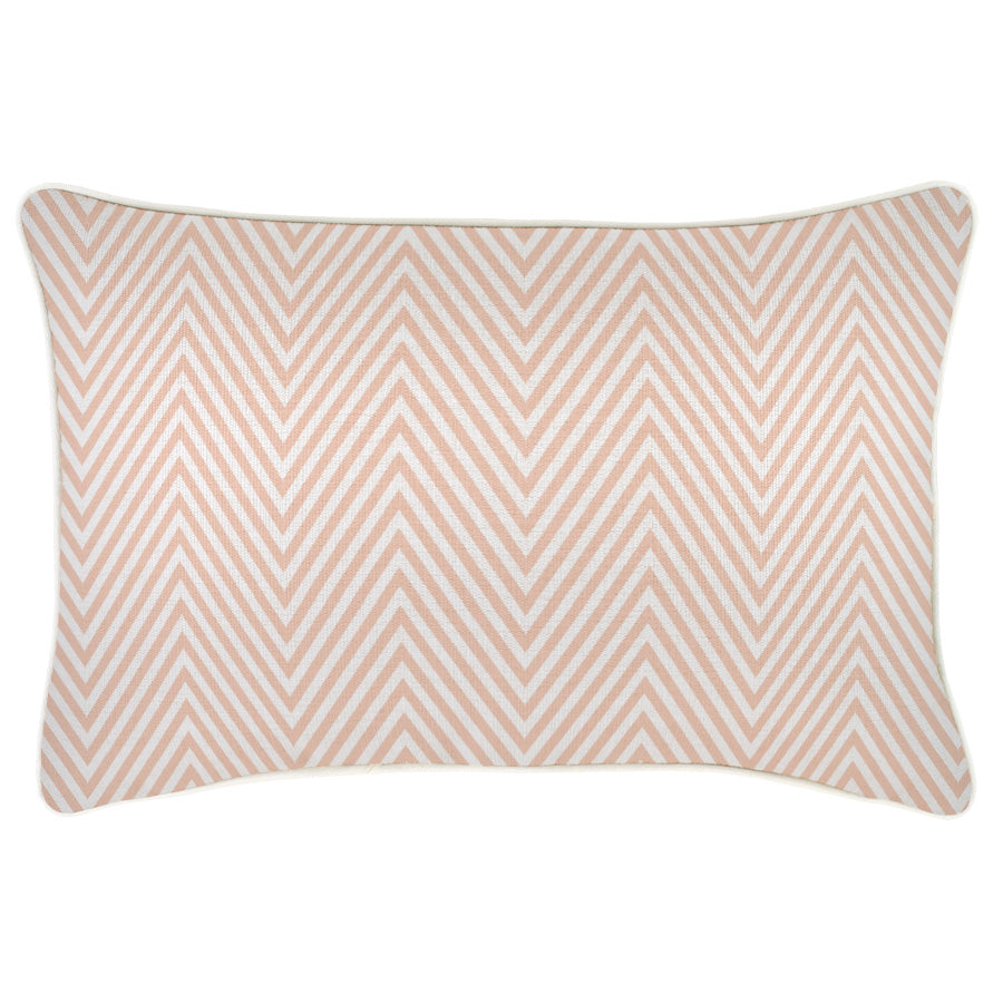Cushion Cover-With Piping-Zig Zag Blush-35cm x 50cm