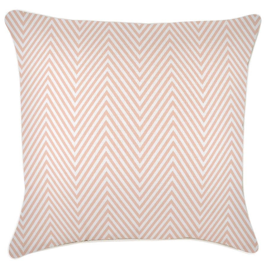 Cushion Cover-With Piping-Zig Zag Blush-60cm x 60cm