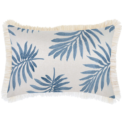 Indoor Outdoor Cushion Cover-Coastal Fringe-Milan Rose-35cm x 50cm