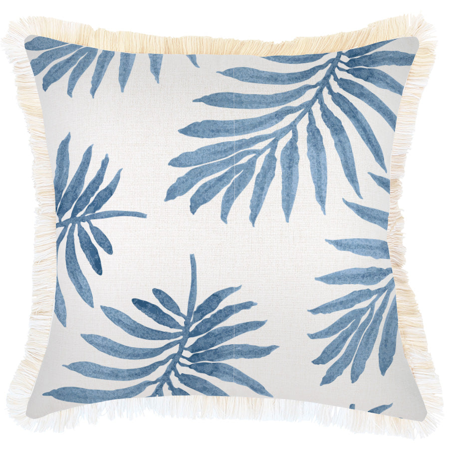 Indoor Outdoor Cushion Cover-Coastal Fringe-Koh Samui-45cm x 45cm