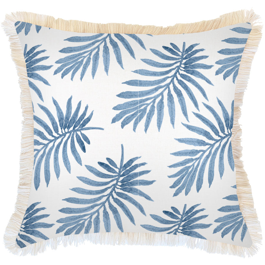 Indoor Outdoor Cushion Cover-Coastal Fringe-Koh Samui-60cm x 60cm
