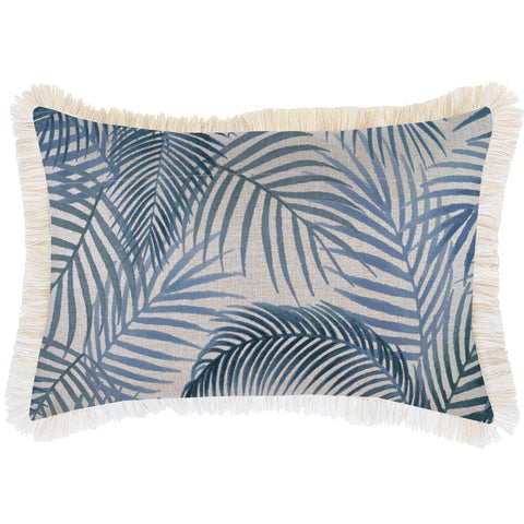 Indoor Outdoor Cushion Cover-Coastal Fringe-Seminyak Rose-35cm x 50cm