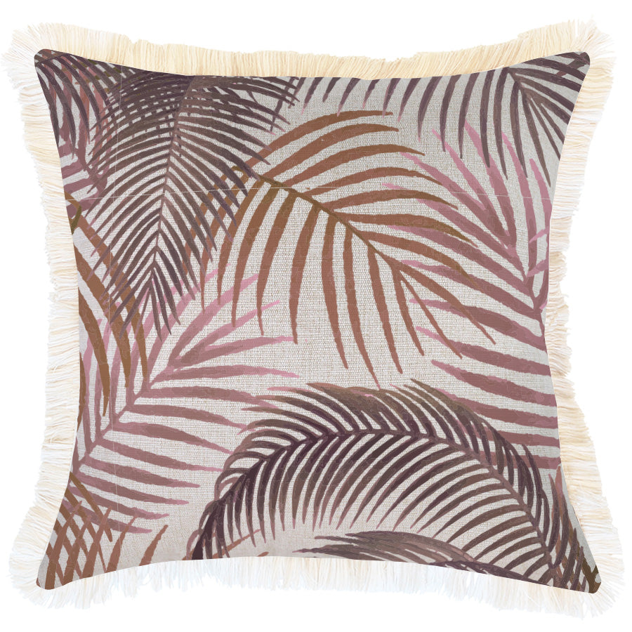 Cushion Cover-Coastal Fringe-Seminyak Rose-45cm x 45cm