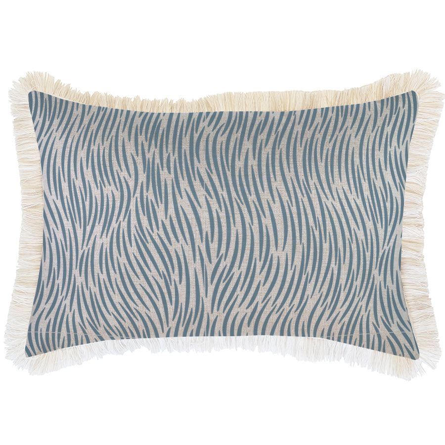 Cushion Cover-Coastal Fringe-Wild Blue-35cm x 50cm