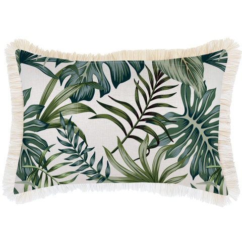 Cushion Cover-Coastal Fringe Black-Palm Trees Black-35cm x 50cm