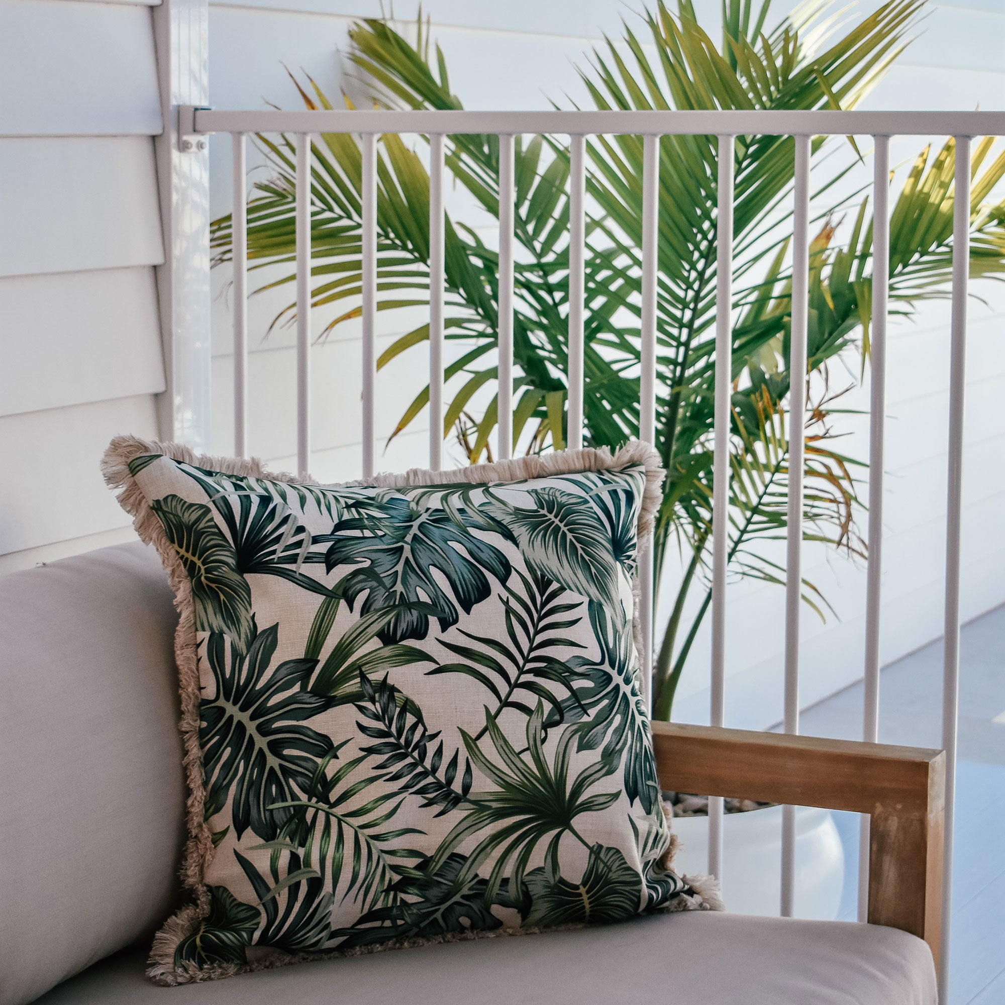 Cushion Cover-Coastal Fringe-Boracay-60cm x 60cm
