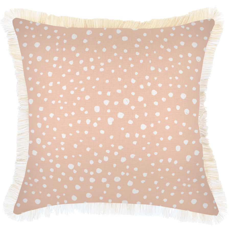Cushion Cover-Coastal Fringe-Lunar Blush-45cm x 45cm