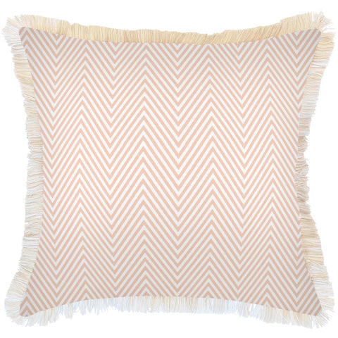 Cushion Cover-With Piping-Side Stripe Peach-35cm x 50cm