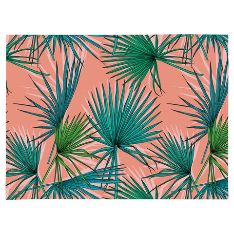 Placemat set of 4-Palm Trees Black-46cm x 33cm