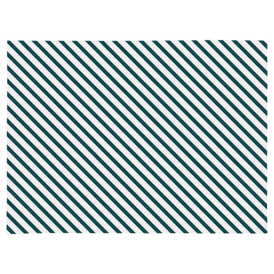 Placemat set of 4-Side Stripe Teal-46cm x 33cm
