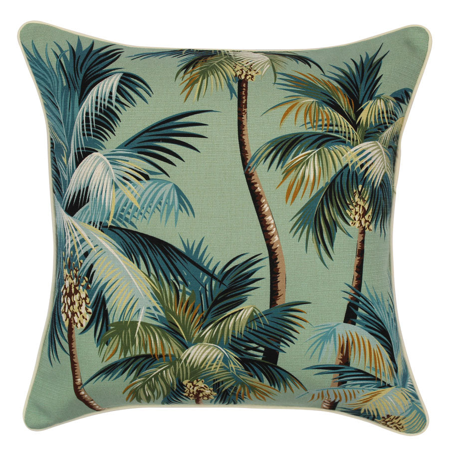 Cushion Cover-With Piping-Palm Trees Lagoon-45cm x 45cm