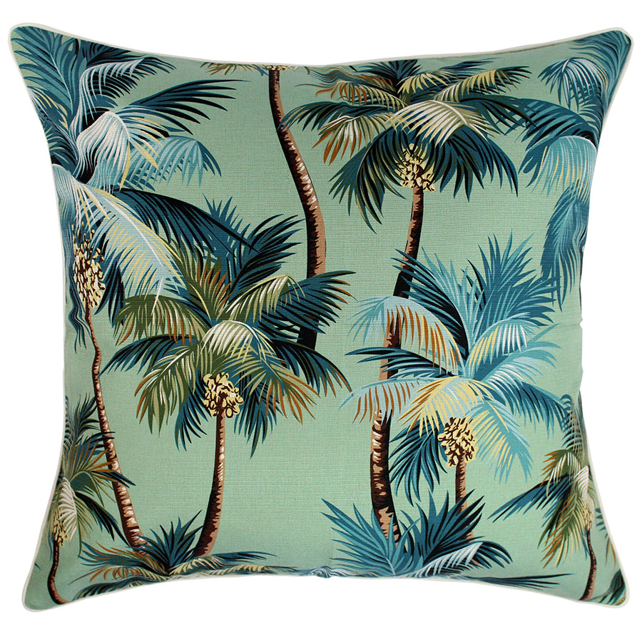 Cushion Cover-With Piping-Palm Trees Lagoon-60cm x 60cm