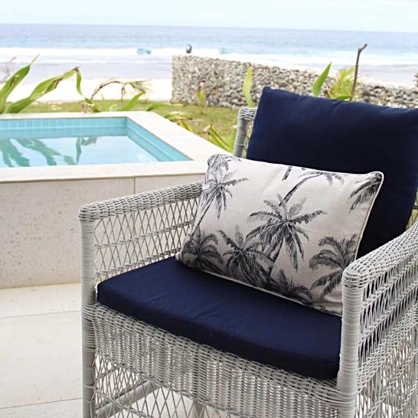Cushion Cover-With Natural Piping-Castaway-35cm x 50cm