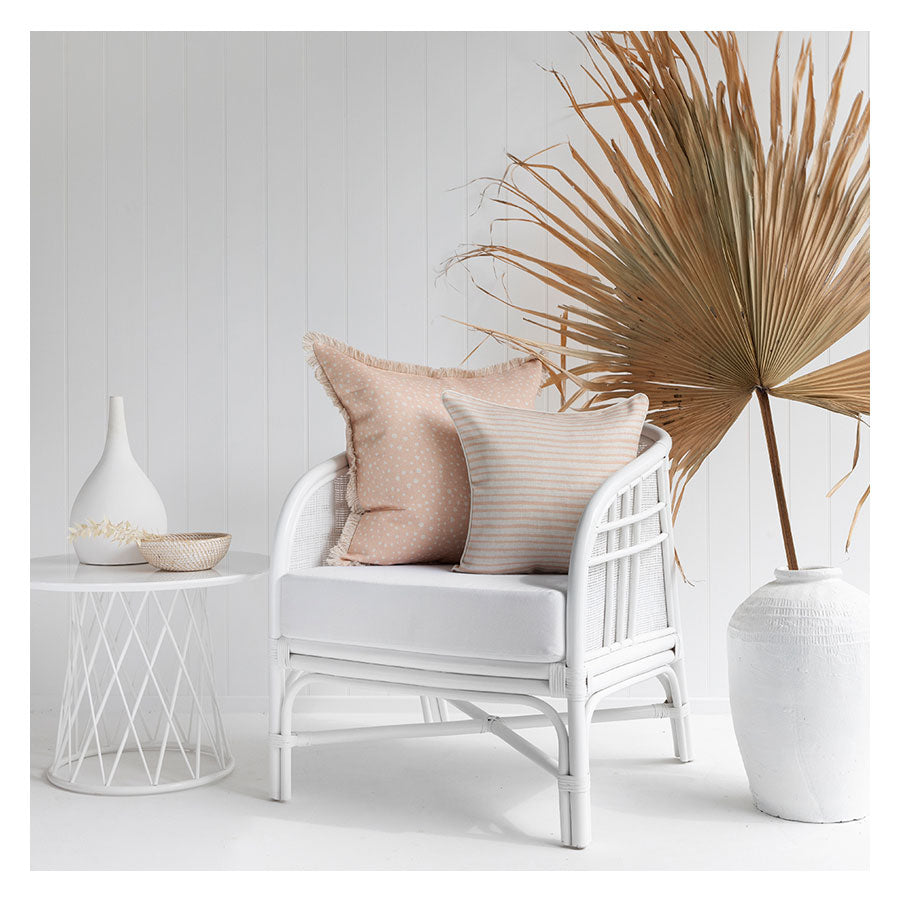 Cushion Cover-Coastal Fringe-Lunar Blush-60cm x 60cm