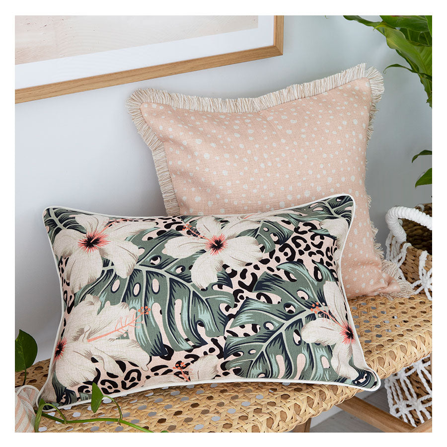 Cushion Cover-With Piping-Tropical Jungle-35cm x 50cm