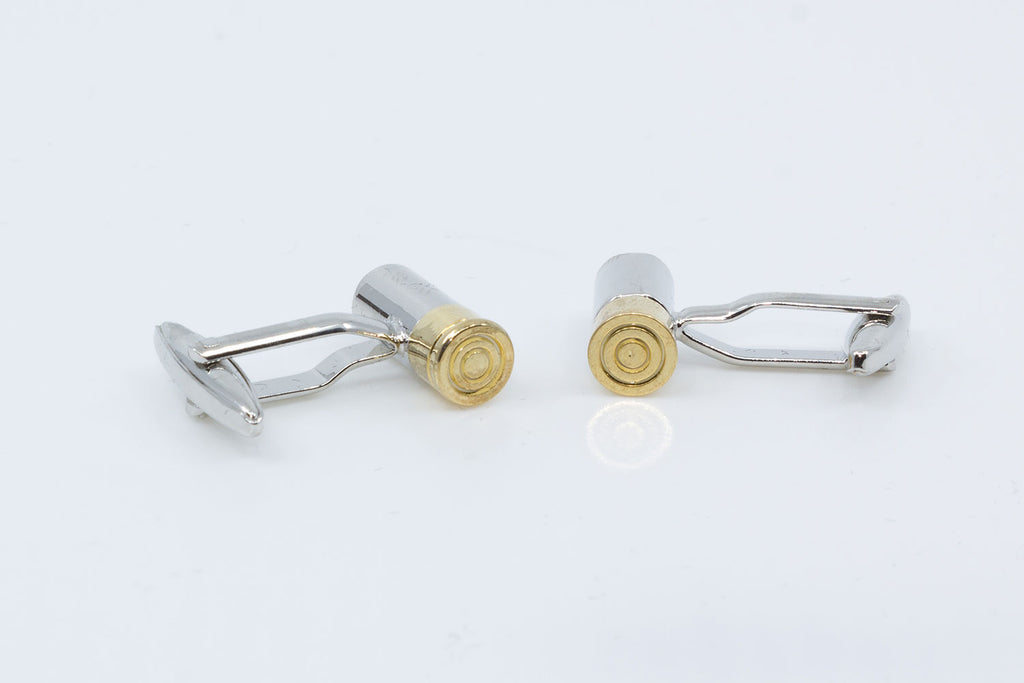 The Gunslinger Cufflinks, cufflinks in the style of shotgun shells
