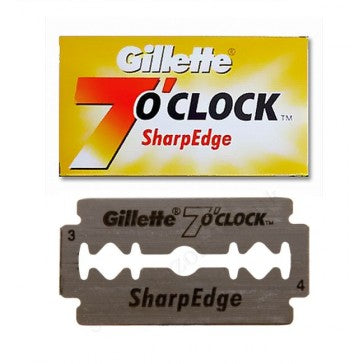Gillette 7 oclock Sharp Edge Double Edge Razor Blades 5-p