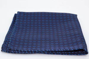 Pocket Square - Hand embroidered - Blue - Another Dandy